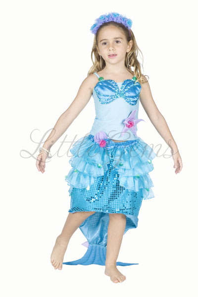 Mermaid Princess Ariel Dress Blue