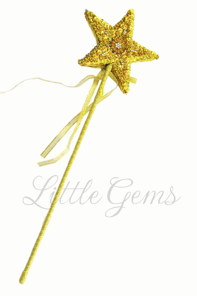 Sequinned Starwand Gold