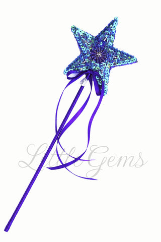 Sequinned Starwand Purple