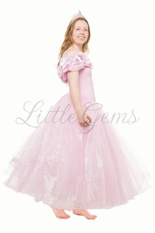 Adult Cinderella Dress in Baby Pink
