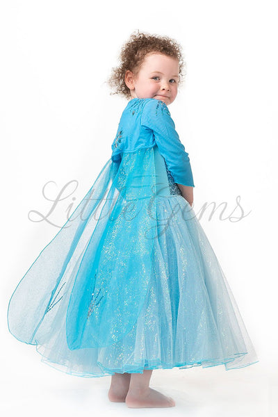 Elsa Cape Lightblue Long Sleeves