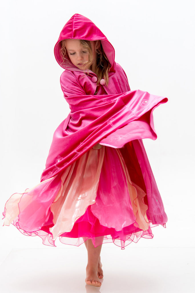 Long Cape Hot Pink