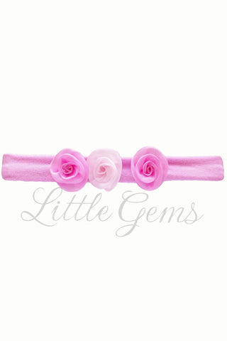 X Headband Baby Shimmer Baby Pink