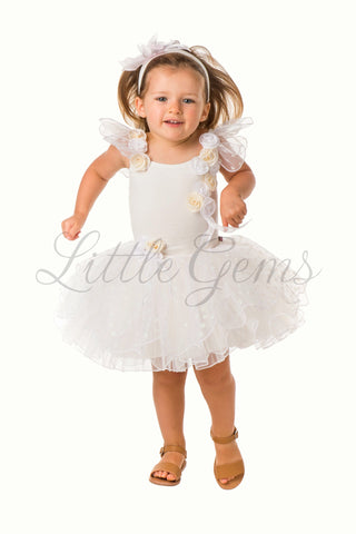Toddler Butterfly Dress in Cream