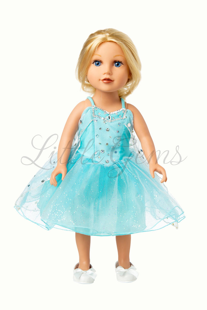 Dolls Dress Elsa Snowprincess