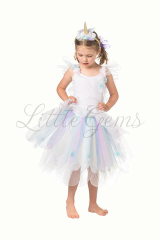 Unicorn Butterfly Dress in White