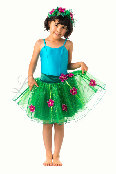 Skirt Flower & Ribbons Glitter in Green