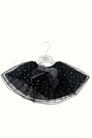 Skirt Flower Baby Black