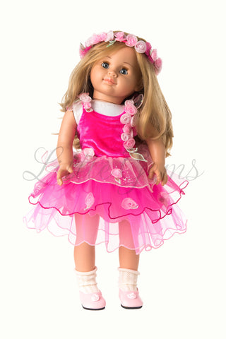 Dolls Fairy Butterfly Dress Set with matching Garland