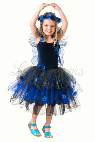 Butterfly Fairy in Midnight Blue