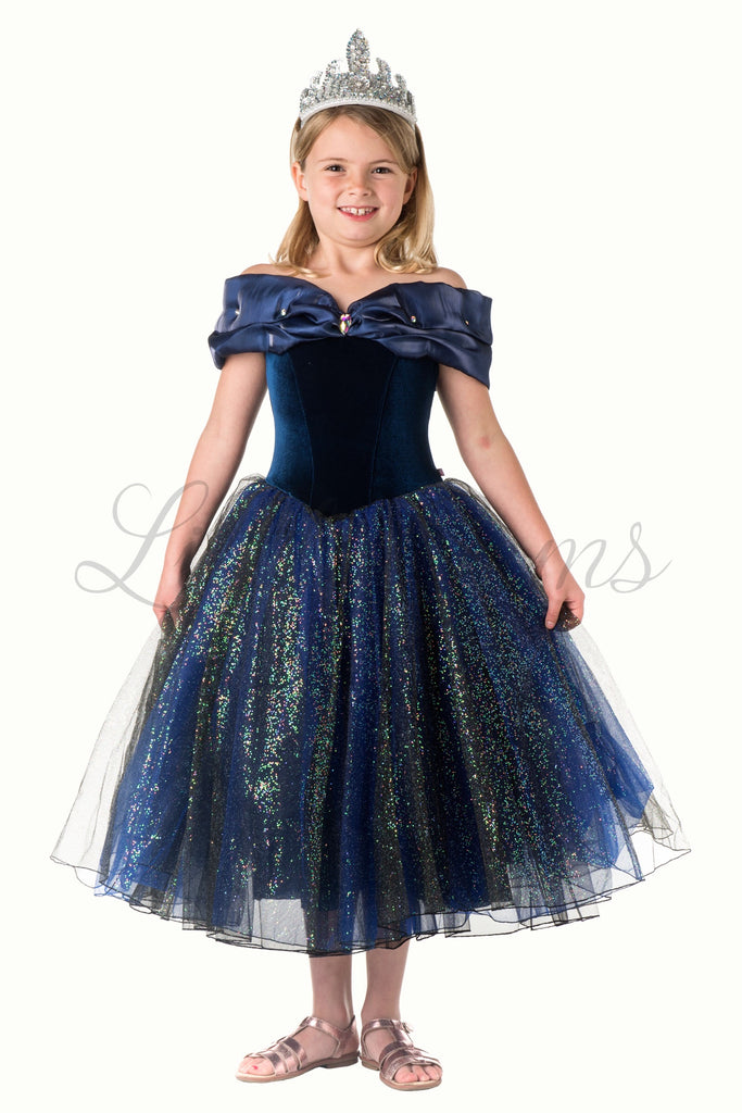 Princess Dress in Midnight Blue