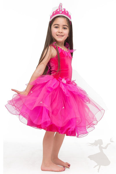 Lotus Dress Hot Pink