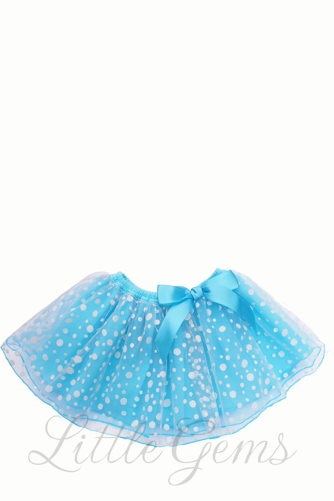 Dotty Baby Skirt Aqua