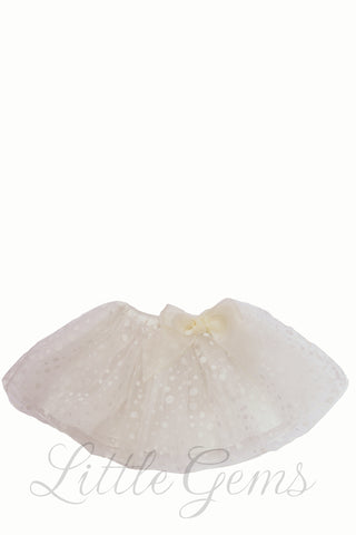 Dotty Baby Skirt Cream