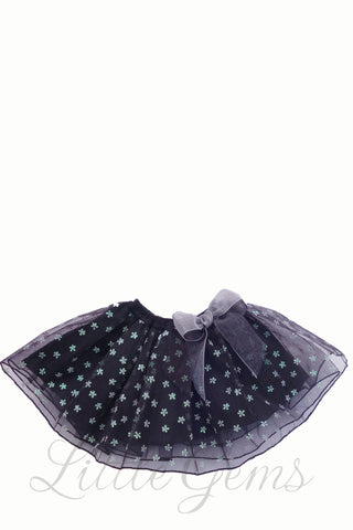 Flower Baby Skirt Black