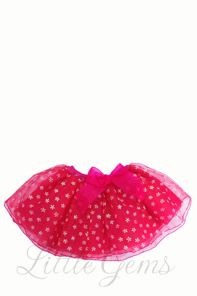Skirt Flower Baby Red