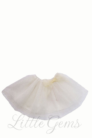 Sparkle Baby Skirt Cream