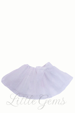 Sparkle Baby Skirt White