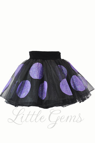 Skirt Polkadot Black
