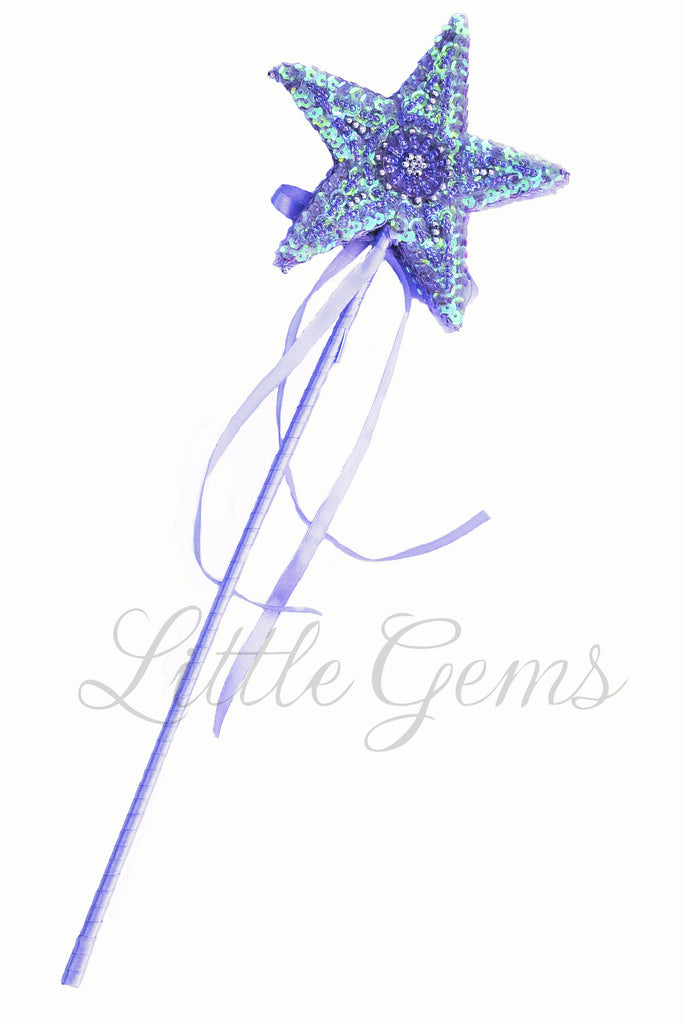 Sequinned Starwand Lilac