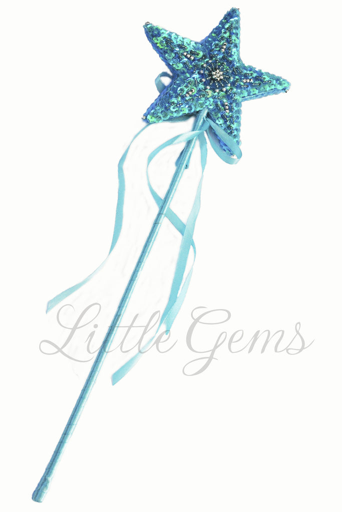 Sequinned Starwand Turquoise