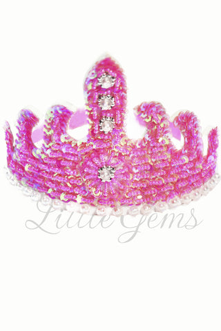 Sequinned Tiara Bubblegum