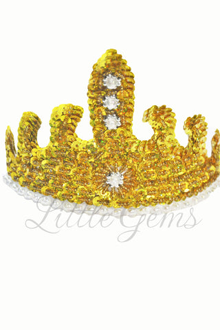 Sequinned Tiara Gold