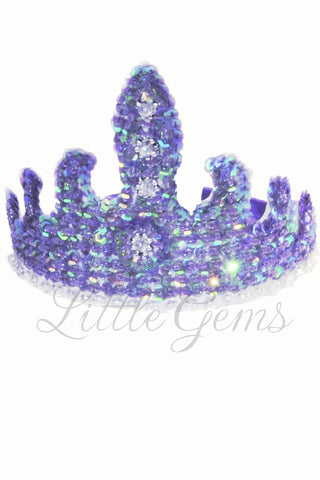 Sequinned Tiara Lilac