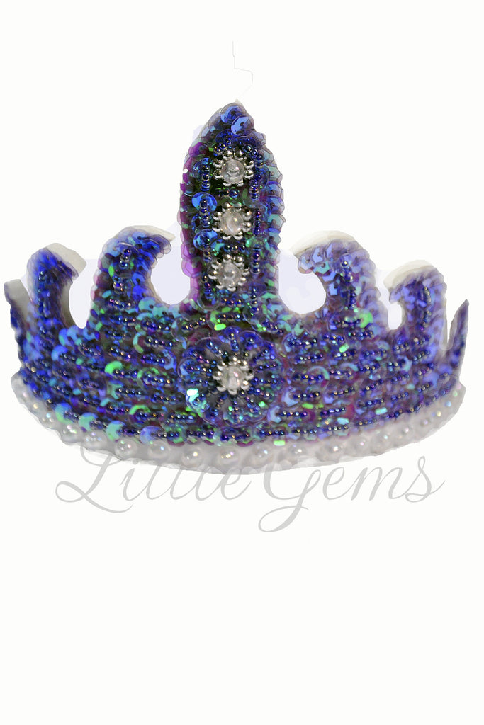 Sequinned Tiara Purple