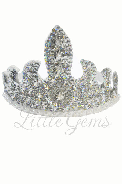 Sequinned Tiara Silver