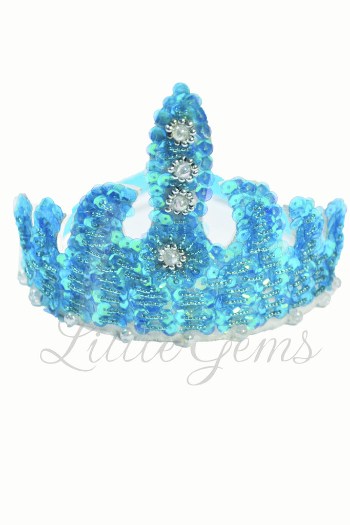 Sequinned Tiara Turquoise