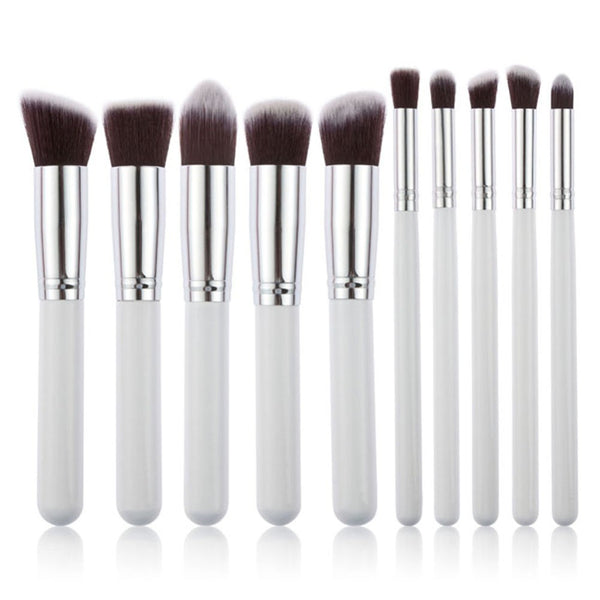 10 Piece Set of Pro Techniques Makeup Brush Collection