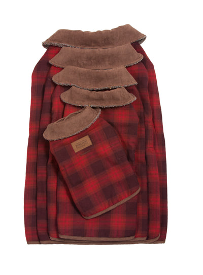 Red Ombre Dog Coat