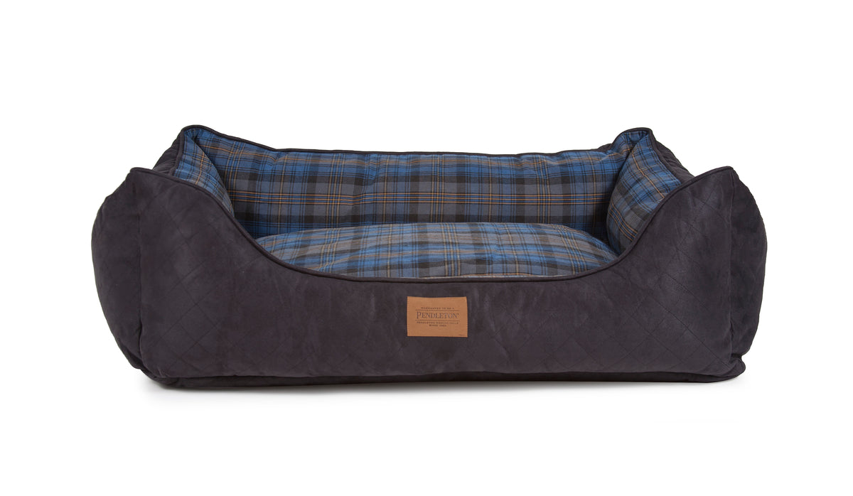 Crescent Lake Plaid Kuddler Dog Bed