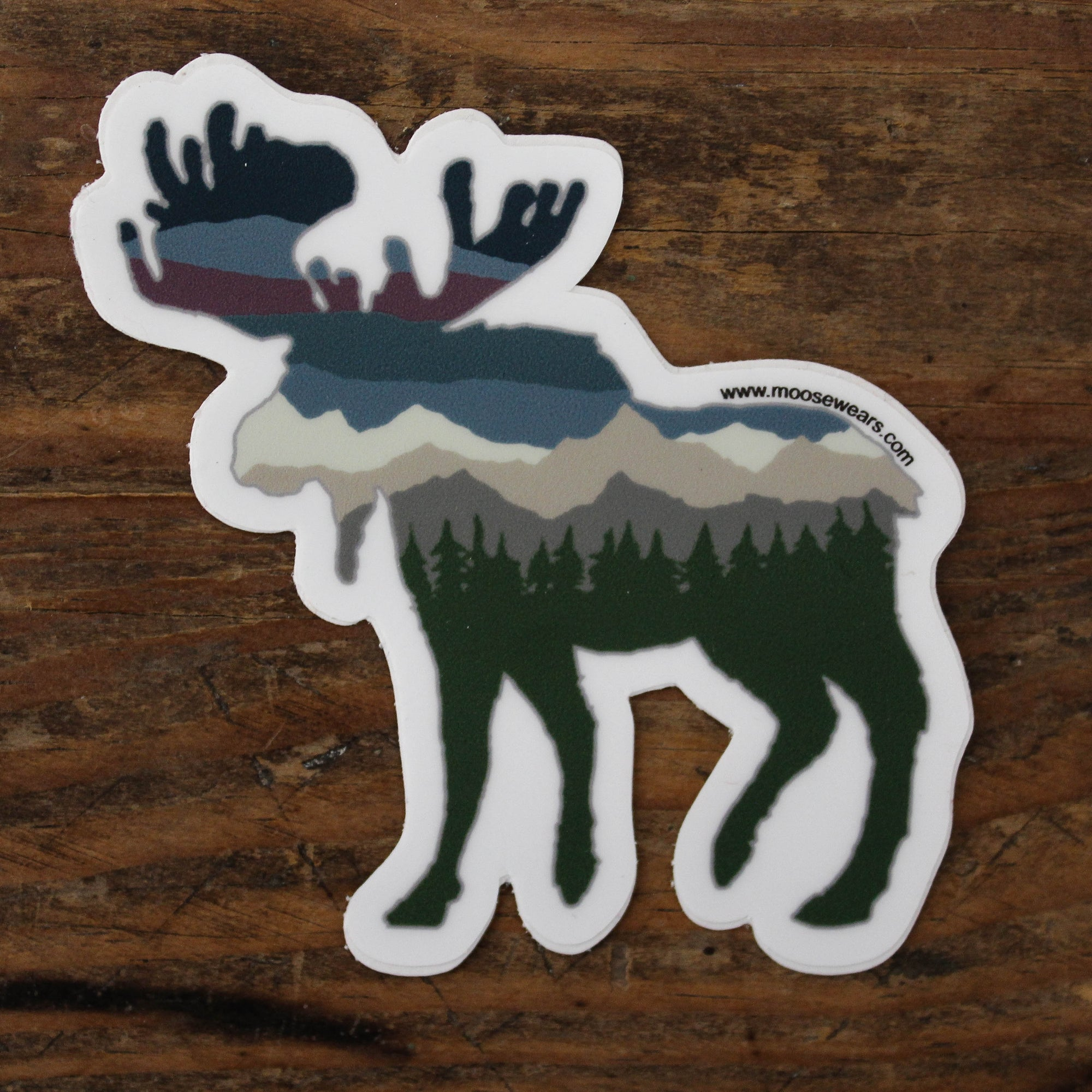 Glacier Moose Sticker