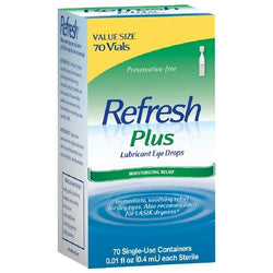 Refresh Plus Lubricant Eye Drops, Single-Use Containers, 70 ea