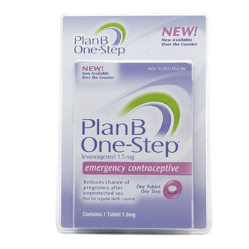 Plan B One-step Emergency Contraceptive 1 Tablet,1.5 mg