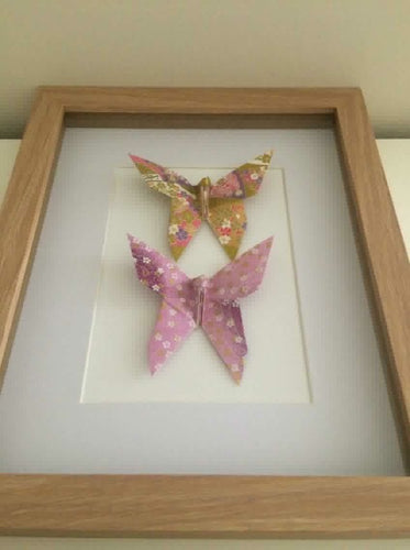 Framed Butterfly Duo - Lilac/Gold