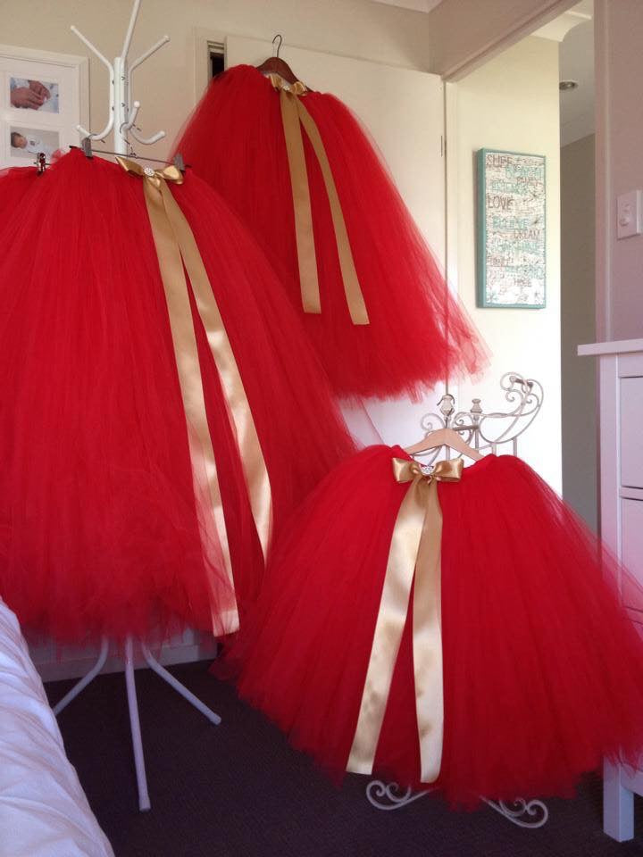 Children's Jolly Red Full Length Tutus