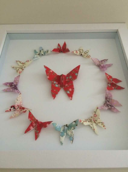 "Chiyogami Butterfly Art ""Unity"""