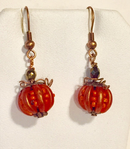 Little pumpkin earrings