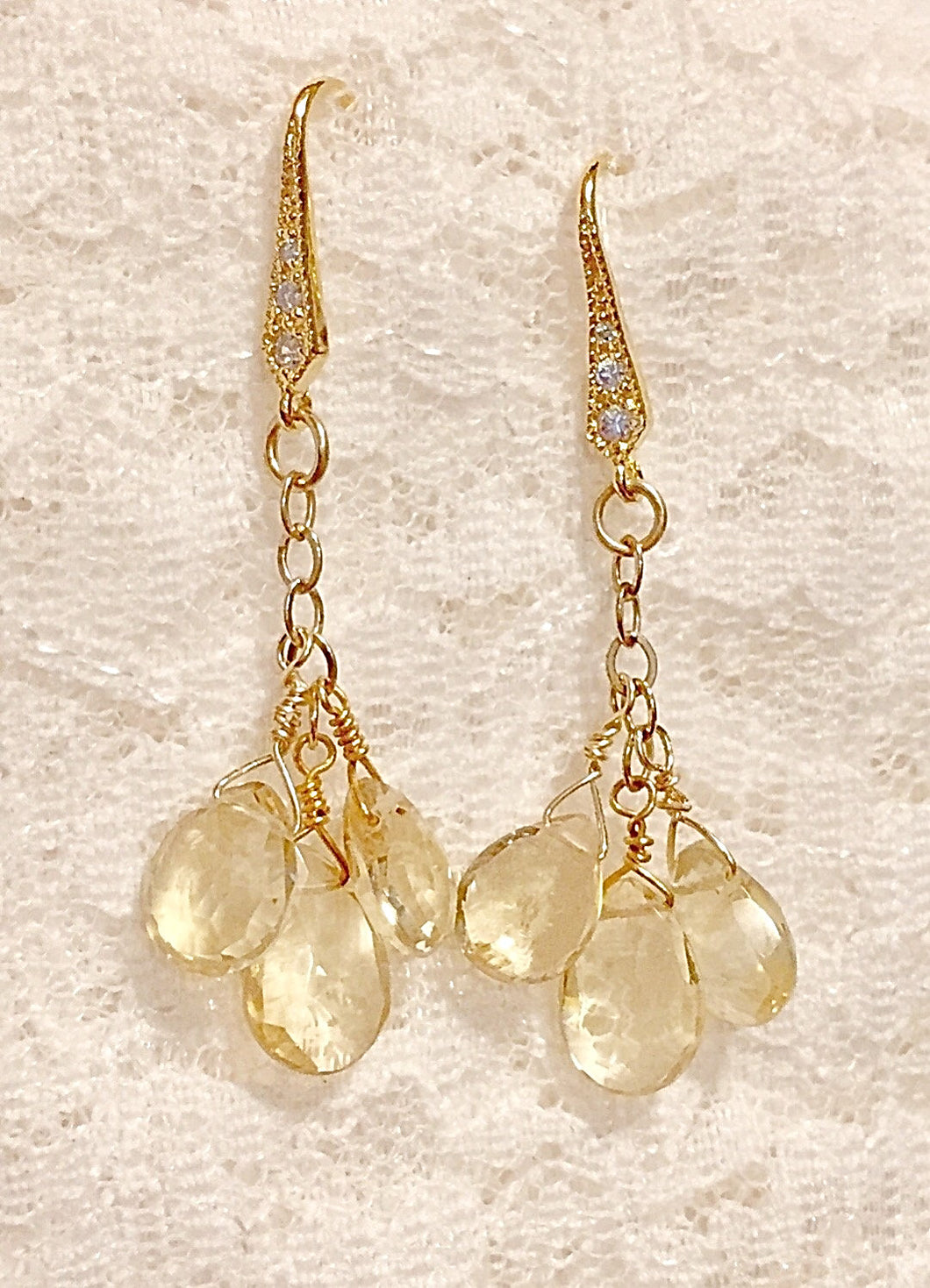 Citrine Briolette Earrings