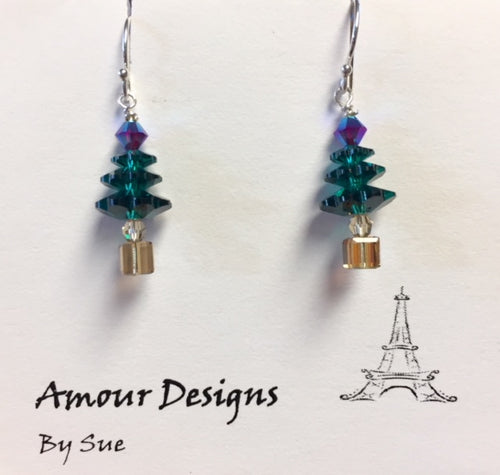 Holiday Tree Earrings in 3 colors