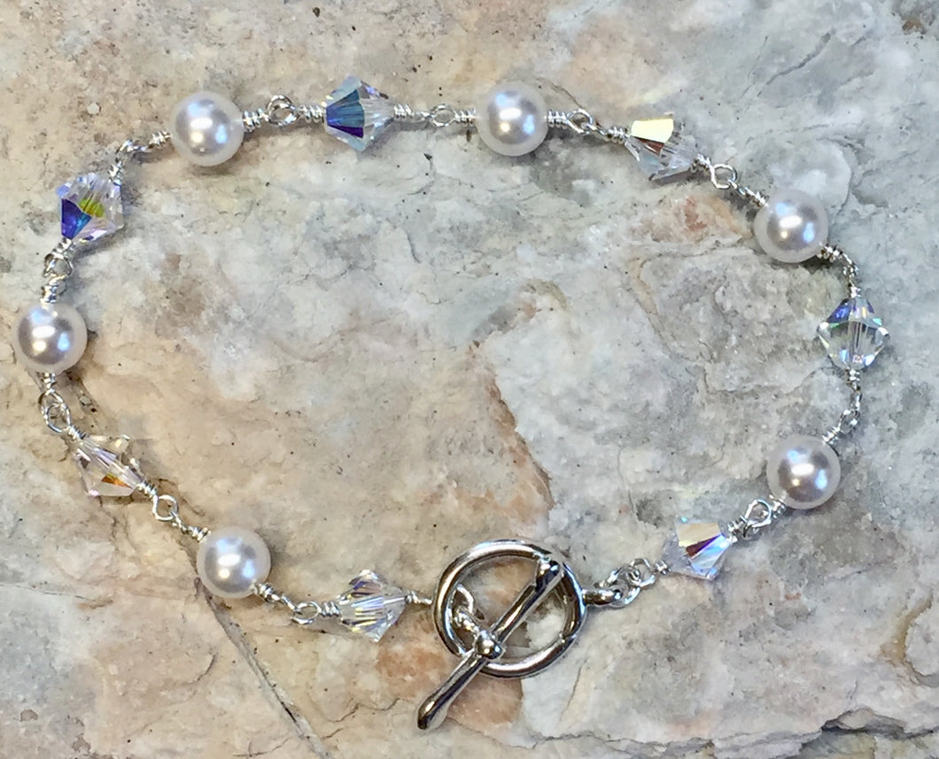 Swarovski Pearls & Crystals wire wrapped Bracelet