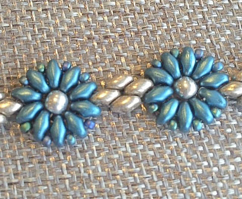 Blue Flower Power Bracelet