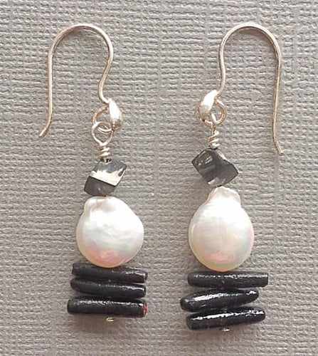 Classic Black & White Earrings