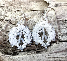 White & silver-lined beads