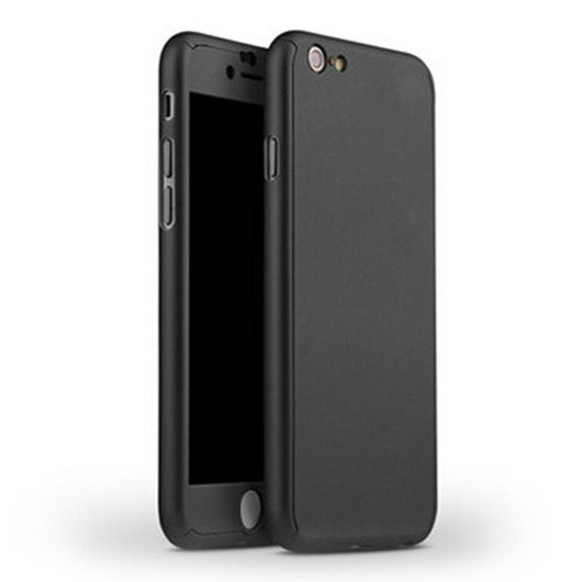 360° Full Coverage Case Cover For iPhone + Free Hybrid Glass Film Protector