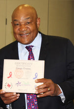 We were so lucky to make Mr. George Foreman a custom award!