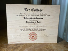 AWARDS & DIPLOMAS ON WOOD